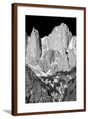 Morning on Mt Whitney I BW-Douglas Taylor-Framed Art Print
