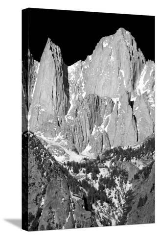 Morning on Mt Whitney I BW-Douglas Taylor-Stretched Canvas Print