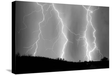 High Voltage BW-Douglas Taylor-Stretched Canvas Print
