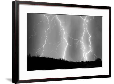High Voltage BW-Douglas Taylor-Framed Art Print