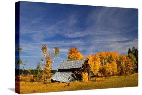 Old Barn-Ike Leahy-Stretched Canvas Print