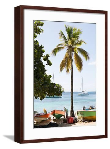 Caribbean Boats V-Karyn Millet-Framed Art Print