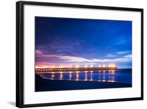Surfside Pier Sunrise I-Alan Hausenflock-Framed Art Print