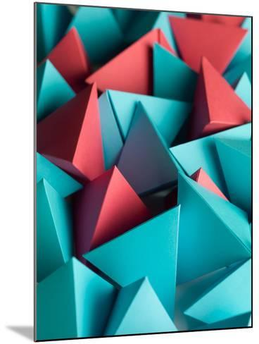 Abstract Wallpaper Consisting of Multicolored Pyramids-Comaniciu Dan-Mounted Photographic Print