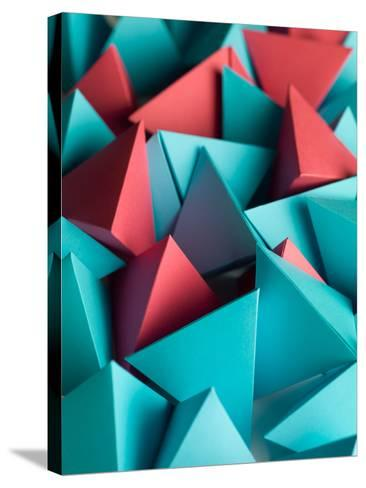 Abstract Wallpaper Consisting of Multicolored Pyramids-Comaniciu Dan-Stretched Canvas Print