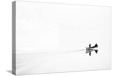 Retro Image of Fishermen in High Key-Ludmila Yilmaz-Stretched Canvas Print
