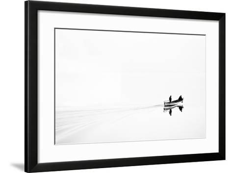 Retro Image of Fishermen in High Key-Ludmila Yilmaz-Framed Art Print