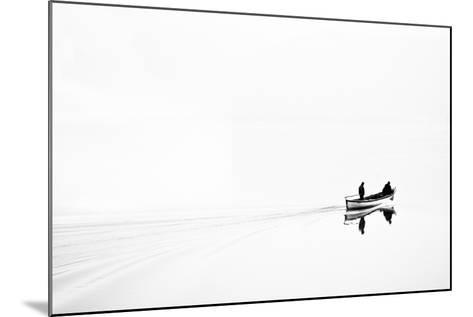 Retro Image of Fishermen in High Key-Ludmila Yilmaz-Mounted Photographic Print