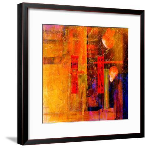 Original Oil Painting,Oil and Mixed Media on Canvas-Laurin Rinder-Framed Art Print