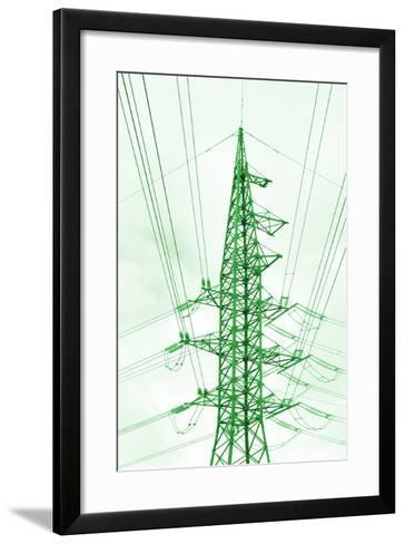 Green Energy Tower.-Vladislav Proshkin-Framed Art Print
