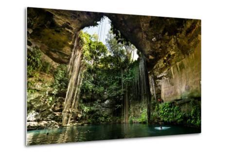 Ik-Kil Cenote near Chichen Itza in Mexico- BorisVetshev-Metal Print