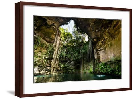 Ik-Kil Cenote near Chichen Itza in Mexico- BorisVetshev-Framed Art Print