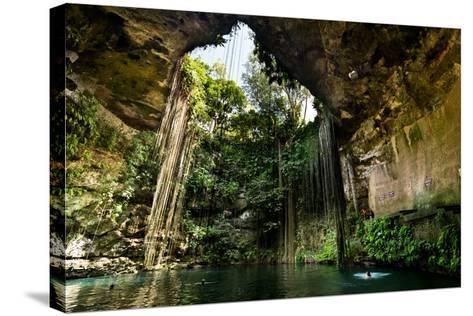 Ik-Kil Cenote near Chichen Itza in Mexico- BorisVetshev-Stretched Canvas Print