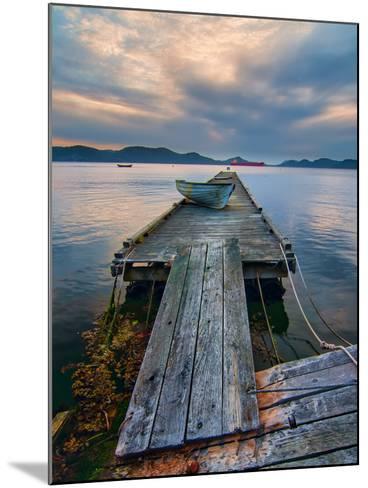 Rickety Island Dock on Saturna Island in British Columbia Canada.-James Wheeler-Mounted Photographic Print