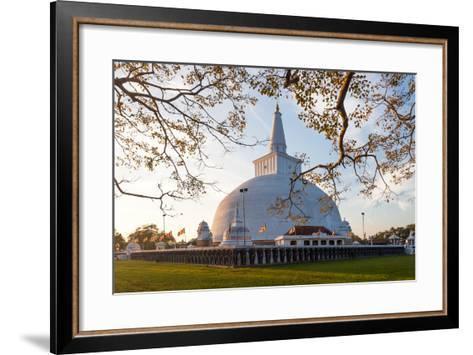Mahatupa Big Dagoba in Anuradhapura at Sunset, Unesco, Sri Lanka, Asia-Honza Hruby-Framed Art Print