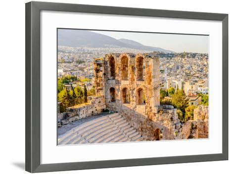 Amphitheater of the Acropolis of Athens. UNESCO World Hetiage Site.-Anton_Ivanov-Framed Art Print