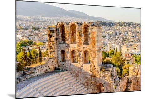 Amphitheater of the Acropolis of Athens. UNESCO World Hetiage Site.-Anton_Ivanov-Mounted Photographic Print