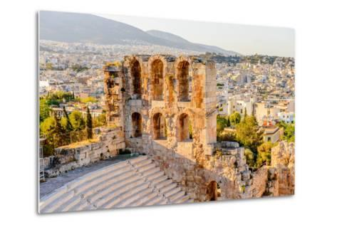 Amphitheater of the Acropolis of Athens. UNESCO World Hetiage Site.-Anton_Ivanov-Metal Print