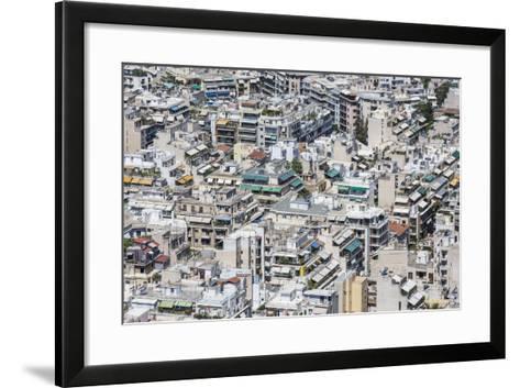 Dense Urban Areas in Athens, Greece-anastasios71-Framed Art Print