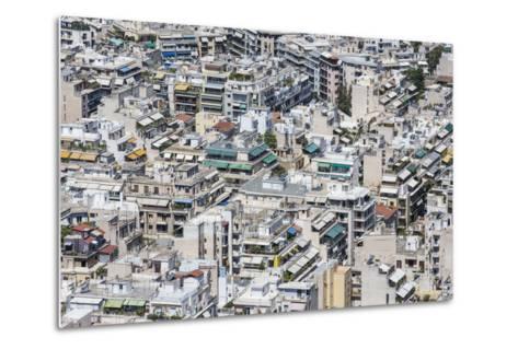 Dense Urban Areas in Athens, Greece-anastasios71-Metal Print