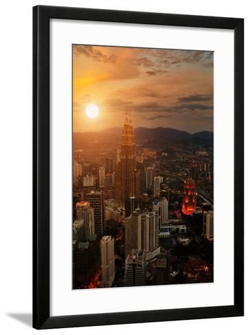 Kuala Lumpur Sunset Scene with Petronas Towers-Vitaly Titov-Framed Art Print