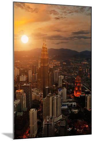 Kuala Lumpur Sunset Scene with Petronas Towers-Vitaly Titov-Mounted Photographic Print