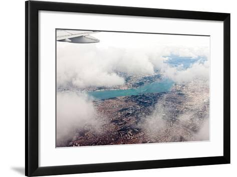 Aerial View of Istanbul- Koraysa-Framed Art Print