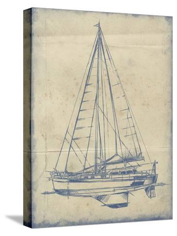Yacht Blueprint I-Ethan Harper-Stretched Canvas Print