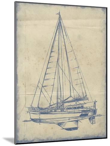 Yacht Blueprint I-Ethan Harper-Mounted Art Print