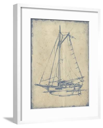 Yacht Blueprint II-Ethan Harper-Framed Art Print