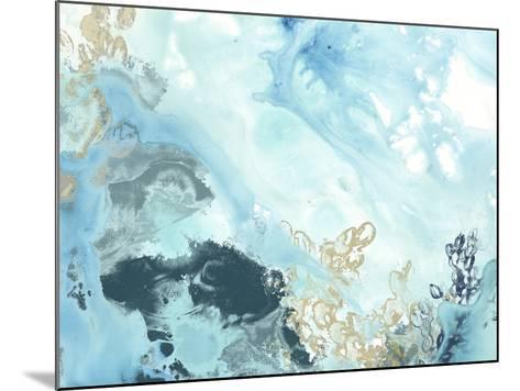 Aqua Wave Form II-June Vess-Mounted Art Print
