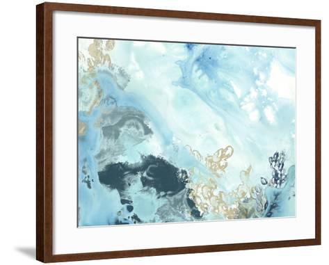 Aqua Wave Form II-June Vess-Framed Art Print