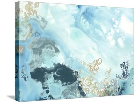 Aqua Wave Form II-June Vess-Stretched Canvas Print