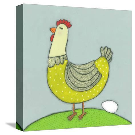 Super Animal - Hen-Tatijana Lawrence-Stretched Canvas Print