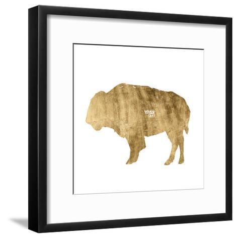 Brushed Gold Animals I-Grace Popp-Framed Art Print
