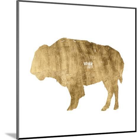Brushed Gold Animals I-Grace Popp-Mounted Art Print