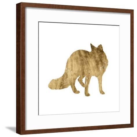Brushed Gold Animals III-Grace Popp-Framed Art Print