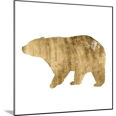 Brushed Gold Animals II-Grace Popp-Mounted Art Print