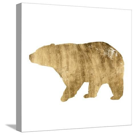 Brushed Gold Animals II-Grace Popp-Stretched Canvas Print