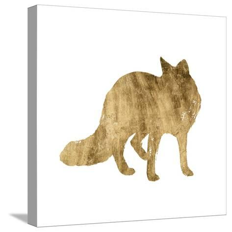 Brushed Gold Animals III-Grace Popp-Stretched Canvas Print