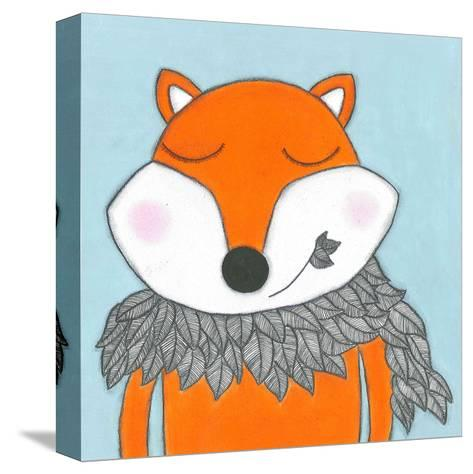 Super Animal - Fox-Tatijana Lawrence-Stretched Canvas Print