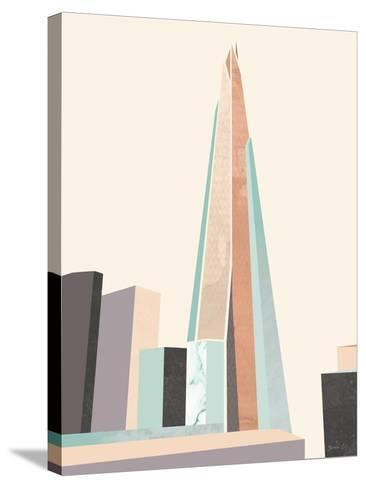 Graphic Pastel Architecture I-Green Lili-Stretched Canvas Print