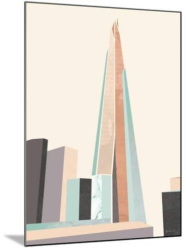 Graphic Pastel Architecture I-Green Lili-Mounted Art Print