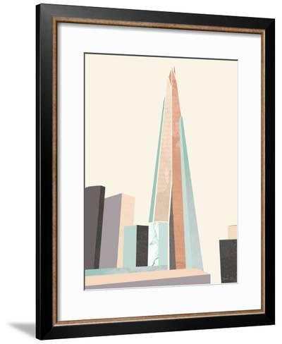 Graphic Pastel Architecture I-Green Lili-Framed Art Print