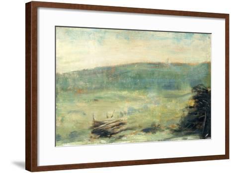 Landscape at Saint-Ouen-Georges Seurat-Framed Art Print