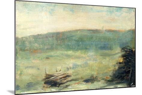 Landscape at Saint-Ouen-Georges Seurat-Mounted Art Print