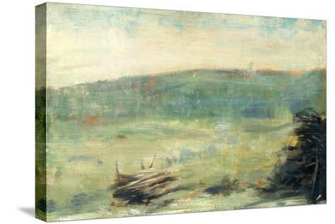 Landscape at Saint-Ouen-Georges Seurat-Stretched Canvas Print