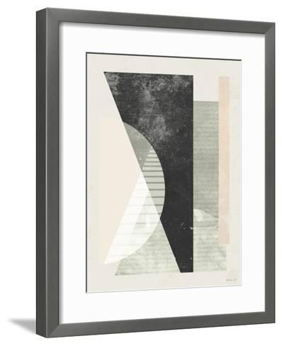 Outside In VI-Green Lili-Framed Art Print