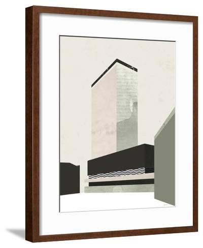 Outside In V-Green Lili-Framed Art Print