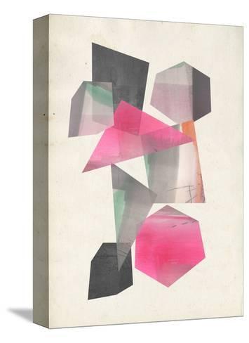 Collaged Shapes I-Jennifer Goldberger-Stretched Canvas Print